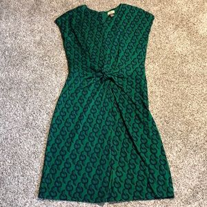 Issa London Silk Tie Front Dress